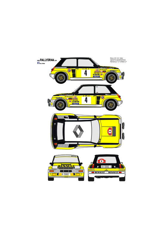 Renault 5 Turbo Ortiz CS 1982