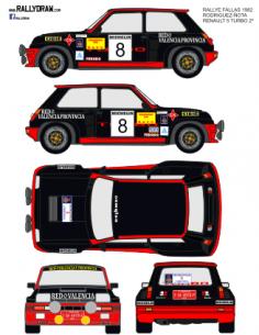 Renault 5 Turbo Rodriguez Fallas 1982