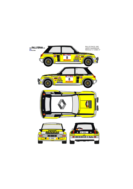 Renault 5 Turbo Ortiz Race 1982