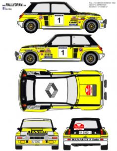 Renault 5 Turbo Ortiz Sierra Morena 1982