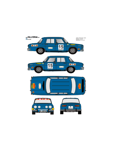 Renault 8 Rosal 2000 Virajes 1970