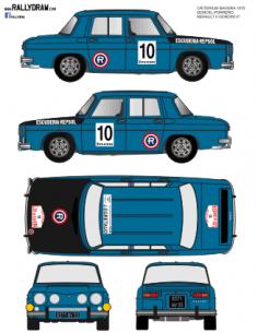 Renault 8 Doncel Baviera 1970