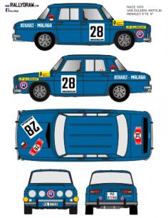Renault 8 Van Dulken Race 1970