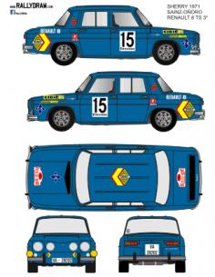 Renault 8 Sainz Sherry 1971
