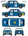 Renault 8 Sainz Baviera 1972