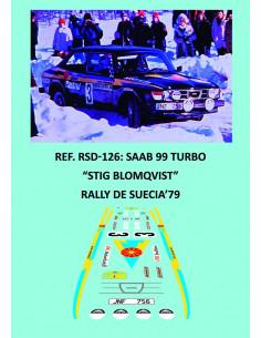 Saab 99 Turbo - Stig Blomqvist - Rally de Suecia 1979