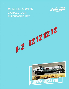 Mercedes W125 Caracciola Nurburgring 1937