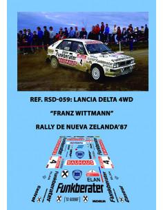 Lancia Delta 4WD Wittmann Nueva Zelanda 1987