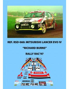 Mitsubishi Lancer EvoIV Burns RAC 1997