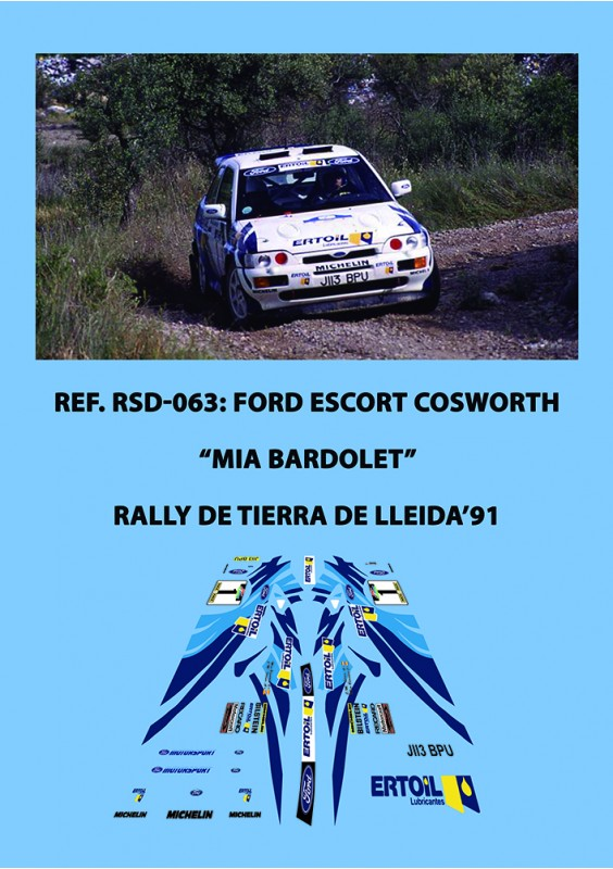 Ford Escort Cosworth Bardolet Lleida 1991