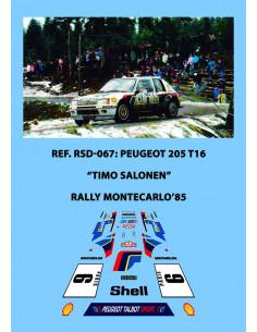 Peugeot 205 T16 Salonen Montecarlo 1985