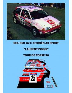 Citroen AX Sport Poggi Tour de Corse 1990