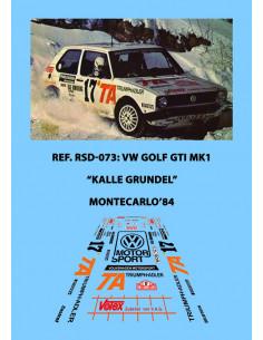 Volkswagen Golf GTI Grundel Montecarlo 1984