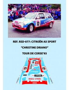 Citroen AX Sport Driano Tour de Corse 1993