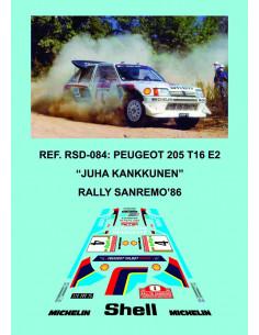 Peugeot 205 T16 E2 Kankkunen Sanremo 1986