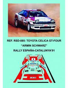 Toyota Celica GT-Four Schwarz RACC 1991