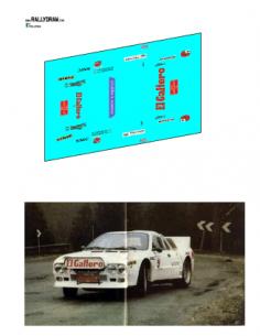 Lancia 037 Zanini Test 1983