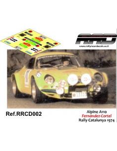 Alpine A110 Fernandez-Cortel Rally Catalunya 1974