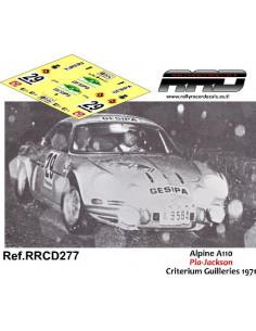 Alpine A110 Pla-Jackson Criterium Guilleries 1971