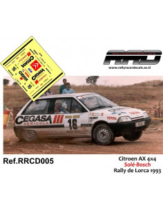 Citroen AX 4x4 Sole-Bosch Rally De Lorca 1993