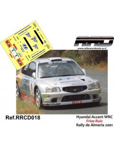 Hyundai Accent WRC Frias-Ruiz Rally de Almeria 2001