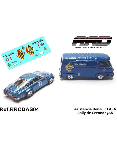 Asistencia FASA Renault Rally Gerona 1968