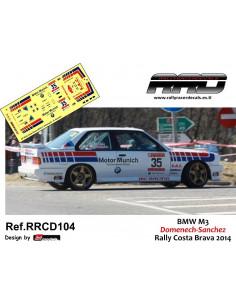 BMW M3 Domenech-Sanchez Rally Costa Brava 2014
