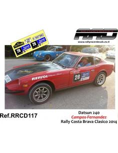 Datsun 240 Campos-Fernandez Rally Costa Brava Clasico 2014