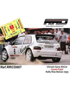 Citroen Saxo KitCar Casais-Pujol Rally Rias Baixas 1999