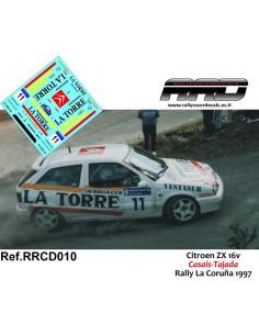 Citroen ZX 16v Casais-Tajada Rally La Coruña 1997