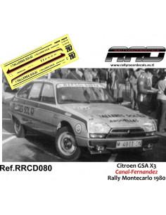 Citroen GSA X3 Canal-Fernandez Rally Montecarlo 1980