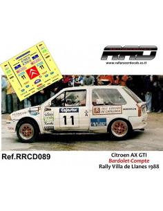 Citroen AX GTI Bardolet-Compte Rally Villa De Llanes 1988