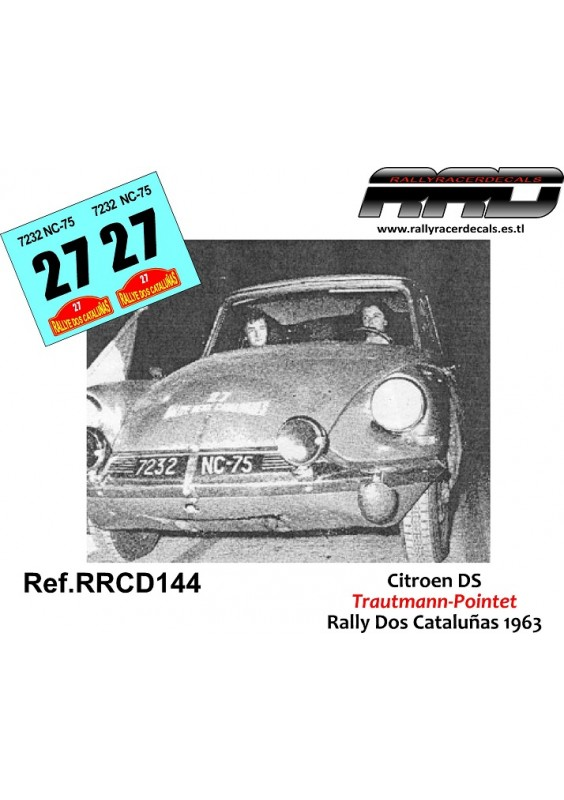 Citroen DS Trautmann-Pointet Rally Dos Catalunyas 1963