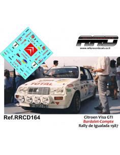 Citroen Visa Bardolet-Compte Rally Igualada 1987
