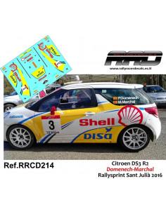 Citroen DS3 R2 Domenech-Marchal Rallysprint Sant Julia 2016