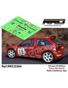 Citroen ZX KitCar Puras-Del Barrio Rally Catalunya 1997
