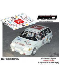 Citroen AX GTI Avero-López Rally Islas Canarias 1989
