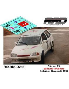 Citroen AX Sanchez-Antentas Criterium Bergueda 1992