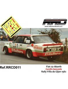 Fiat 131 Abarth Cardin-Gancedo Rally Villa de Gijon 1982