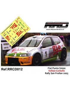 Fiat Punto S1600 Vallejo-Carballo Rally San Froilan 2003