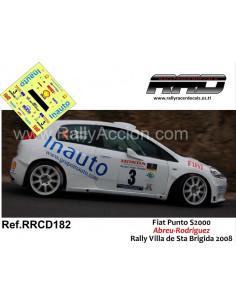 Fiat Punto S2000 Abreu-Rodriguez Rally Villa de Santa Brigida 2008