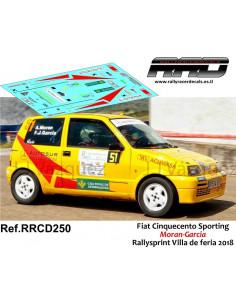 Fiat Cinquecento Sporting Moran-Garcia Rallysprint Villa de feria 2018