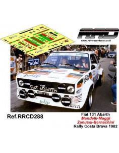 Fiat 131 Abarth Mandelli-Zanussi Rally Costa Brava 1982