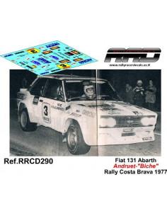 Fiat 131 Abarth Andruet-Biche Rally Costa Brava 1977