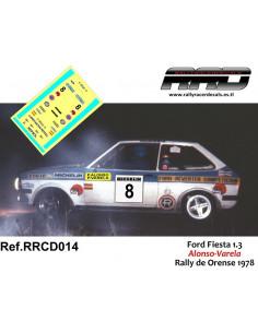 Ford Fiesta Alonso-Varela Rally de Orense 1978