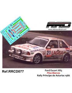 Ford Escort XR3 Pino-Marcos Rally Principe de Asturias 1986