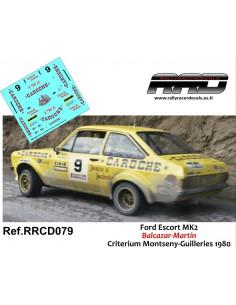 Ford Escort MK2 Balcazar-Martin Criterium Montseny-Guilleries 1980