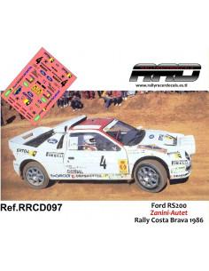 Ford RS 200 Zanini-Autet Rally Costa Brava 1986