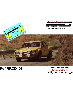 Ford Escort MK1 Lezama-Abans Rally Costa Brava 1976