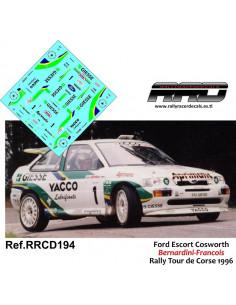 Ford Escort Cosworth Bernardini-Francois Rally Tour de Corse 1996